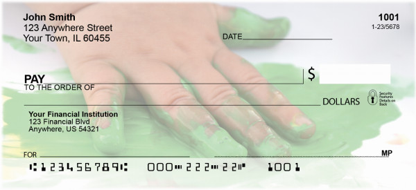 Finger Painting Personal Checks