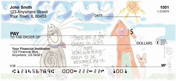 Home Sweet Home Personal Checks by Amy S. Petrik
