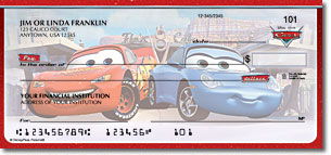 Disney Cars Disney Personal Checks - 1 Box - Singles
