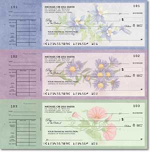 American Wildflowers Desk Set Checks Duplicates
