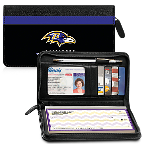 Baltimore Ravens NFL Zippered Wallet