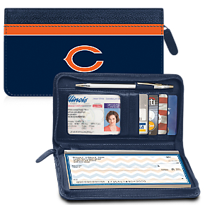 Chicago Bears NFL Zippered Wallet