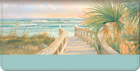 A Walk on the Beach Checkbook Cover