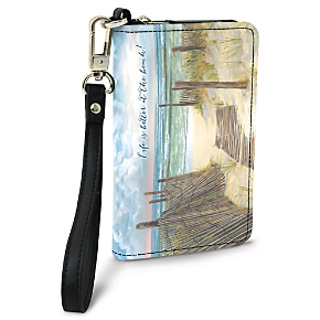 A Walk on the Beach Small Wristlet Purse