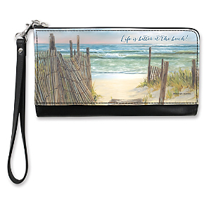 A Walk on the Beach Large Wristlet Purse
