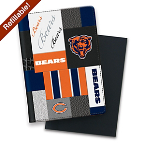 Chicago Bears NFL Patchwork Refillable Journal