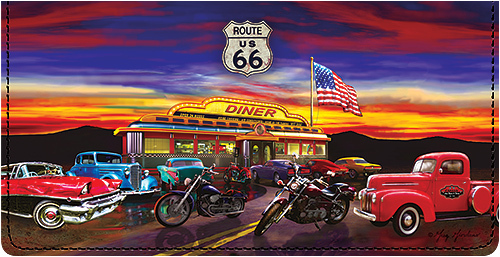Route 66 Leather Cover