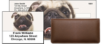 Pug Portraits Personal Checks Bundle