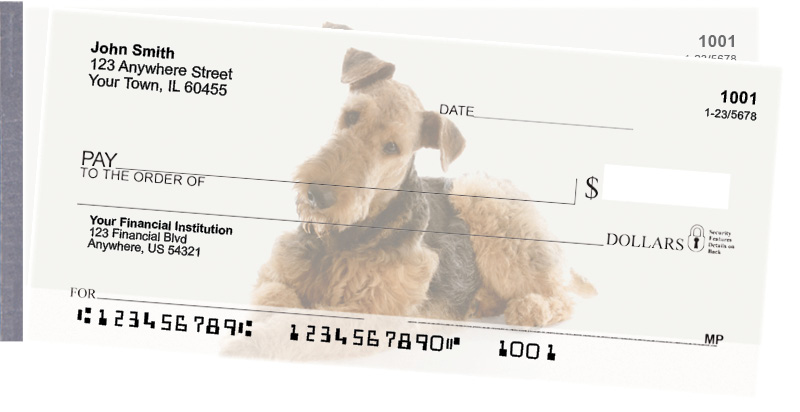 Airedale Terrier Side Tear Checks