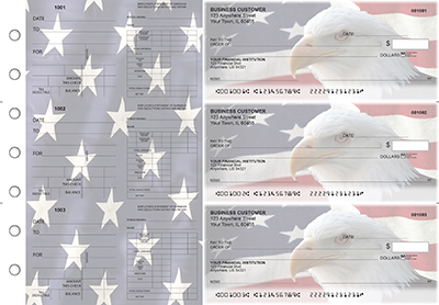 American Flag Dual Purpose Voucher Business Checks