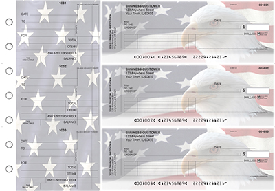 American Flag Standard Invoice Business Checks