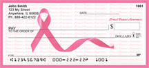 Breast Cancer Awareness Ribbon Personal Checks