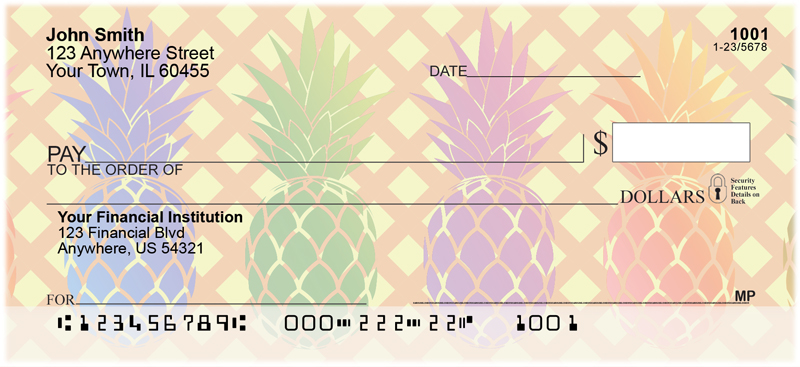 Pineapples Personal Checks