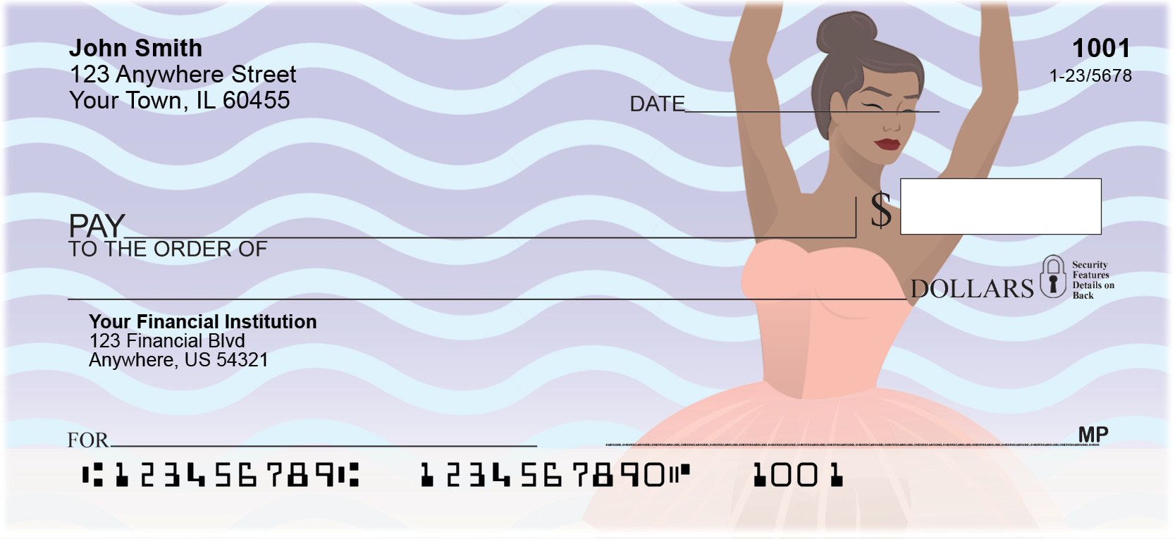 Ballet Dancer Personal Checks