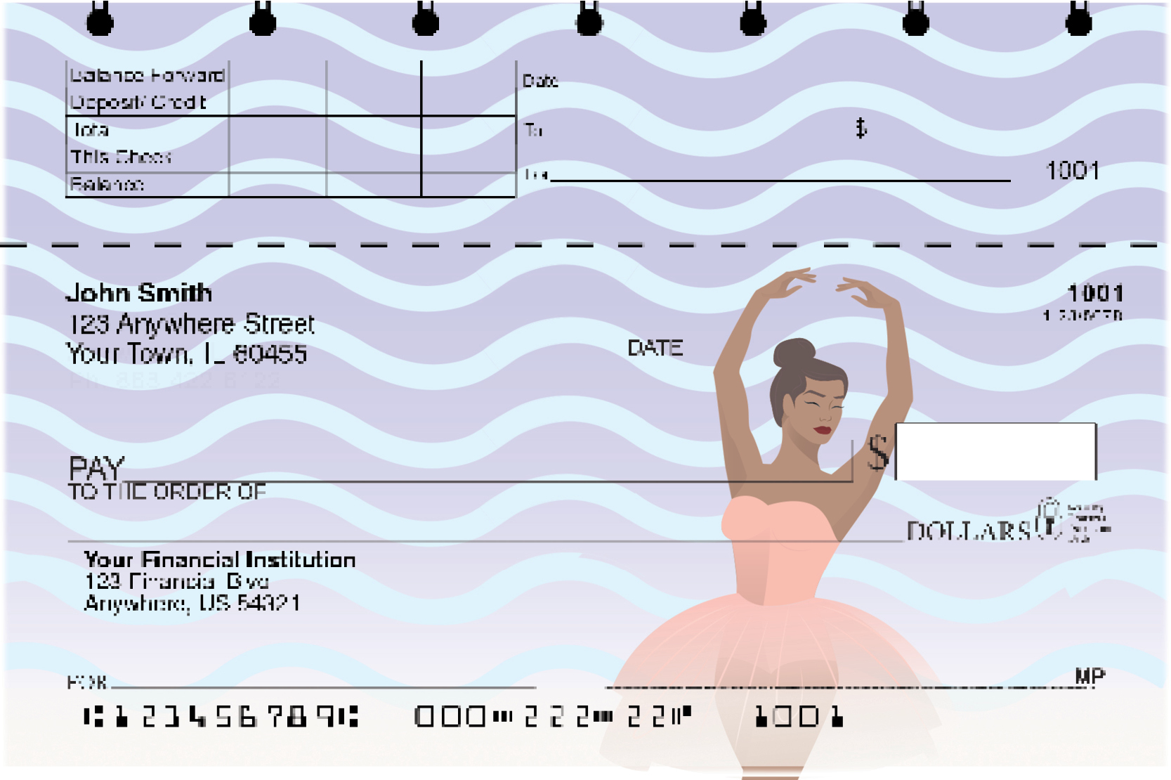 Ballet Dancer Top Stub Checks