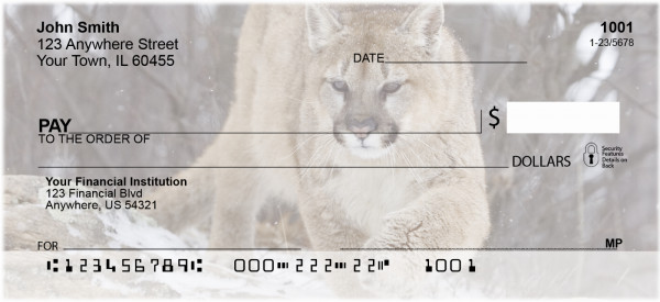 Cougar Personal Checks