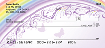 Butterflies And Filigree Rainbows Personal Checks