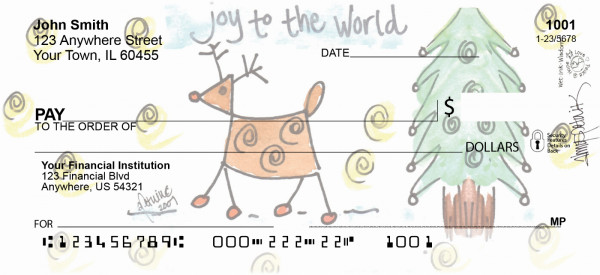 Joy to the World Personal Checks