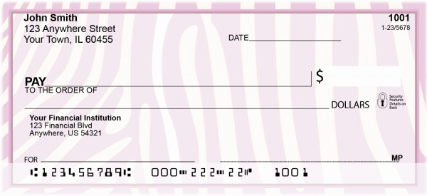 Funky Animal Prints Personal Checks