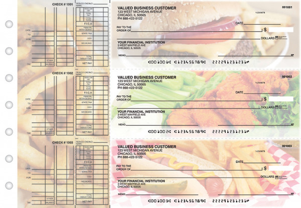 American Cuisine Multi Purpose Designer Business Checks