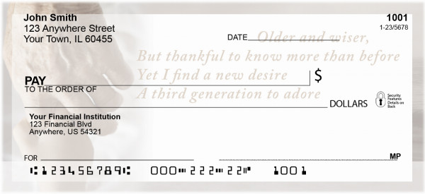 Grandparents Personal Checks by Sweet Intentions