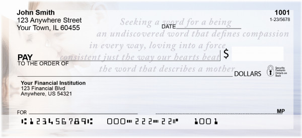 Motherhood Personal Checks by Sweet Intentions