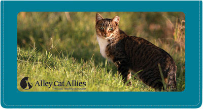 Alley Cat Allies Fabric Checkbook Cover