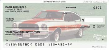 1978 Ford Mustang Cobra Checks - 1 box - Duplicates