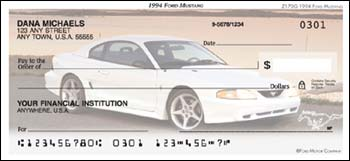 1994 Ford Mustang Checks - 1 box - Duplicates