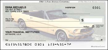 1964 1/2 Ford Mustang Convertible Checks - 1 box - Singles