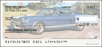 1966 Ford Mustang GT 350 Checks - 1 box - Singles