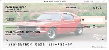 1970 Ford Mustang BOSS Checks - 1 box - Singles