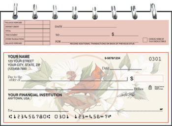 Birds & Blossoms Top Stub Checks - Singles